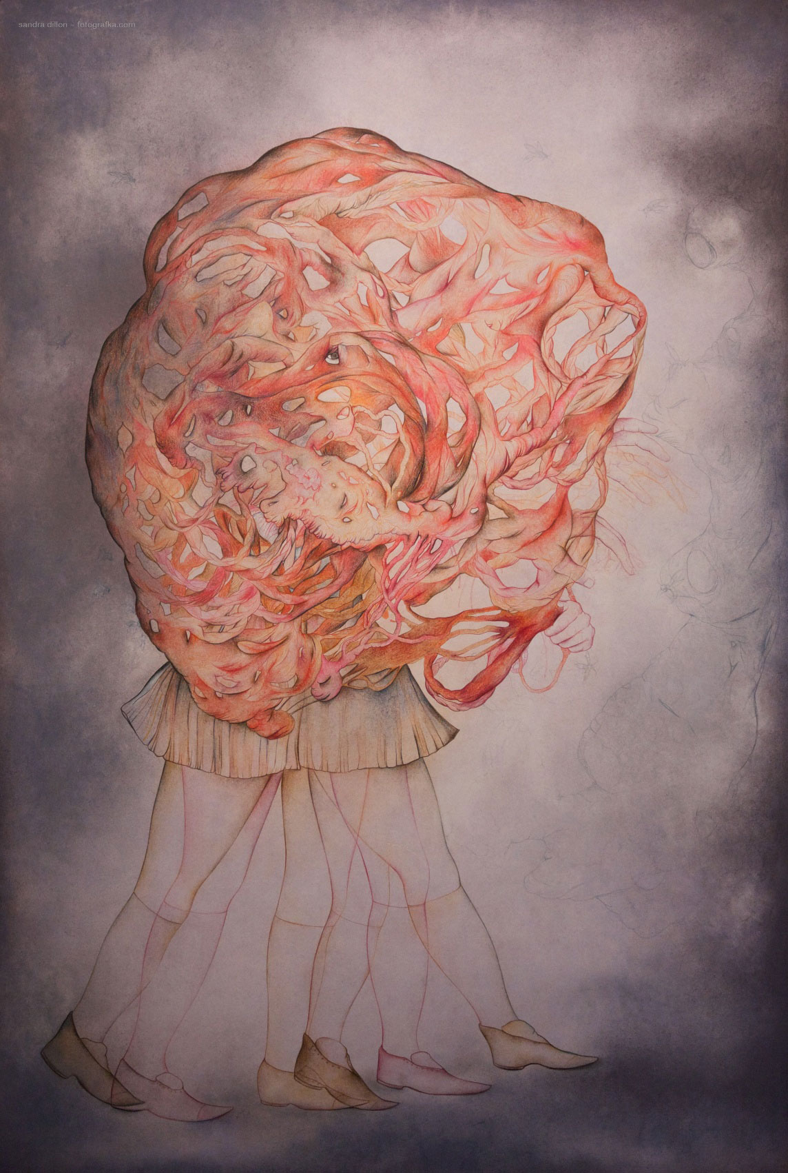 The Day Before Tomorrow, charcoal, pastel and colored pencil on paper, 44in x 30in, 2013