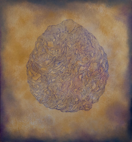 Golden Orb, charcoal, pastel, and colored pencil on paper, 48in x 44in, 2012